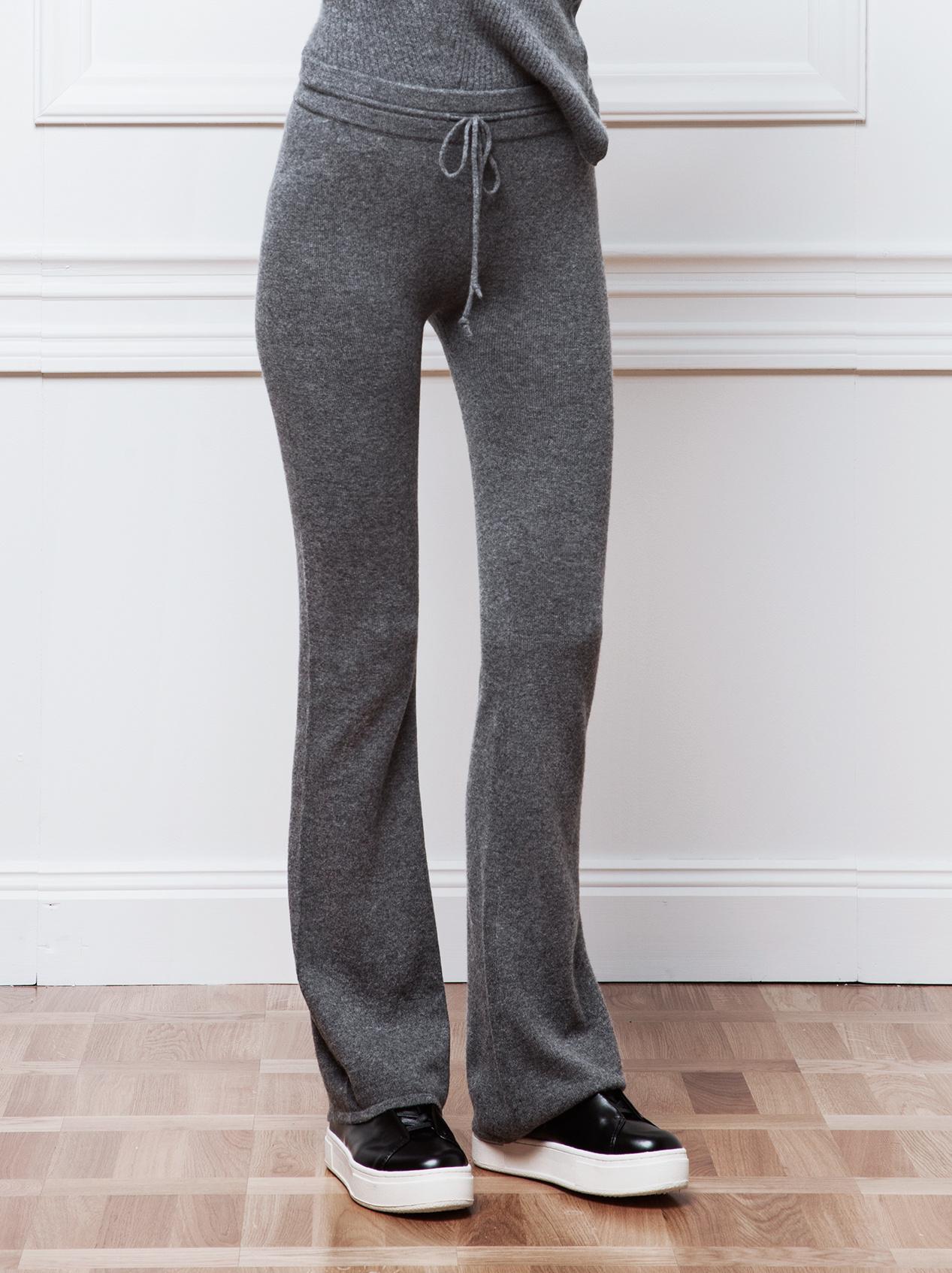 Soft Goat Women's Trumpet Pants By Petra Dark Grey