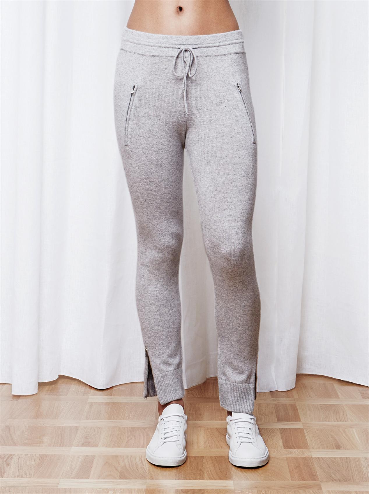Soft Goat Women's Zipper Pants Ljusgrå